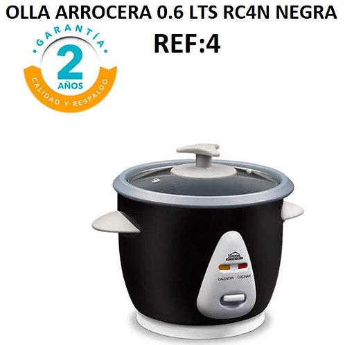 Olla De Arroz 0.6 Lts Rc4n Negra (He)