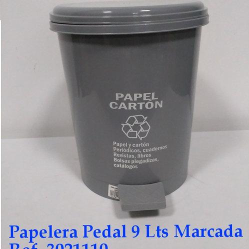 Papelera Pedal  9 Lts Marcada