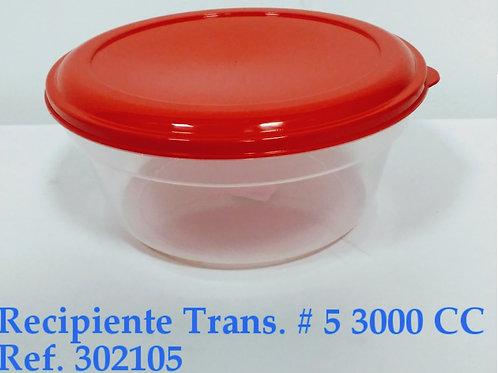 Recipiente Transparente N° 5 - 3.000 cc
