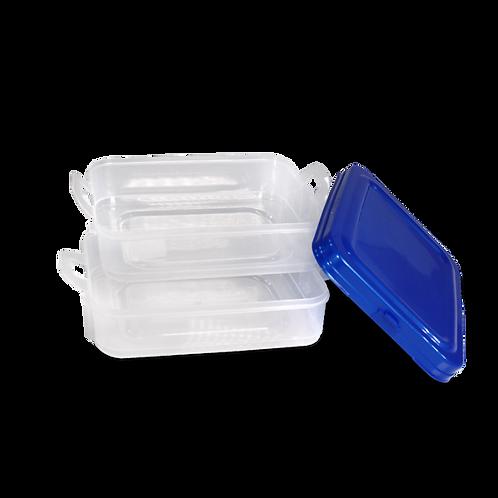 Caja Dupla Rectangular Con Tapa - 3 L