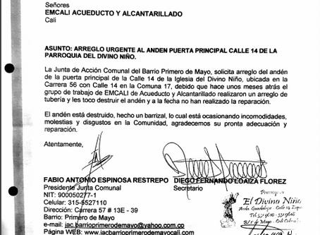 Arreglo anden Parroquia del Divino Niño Calle 14