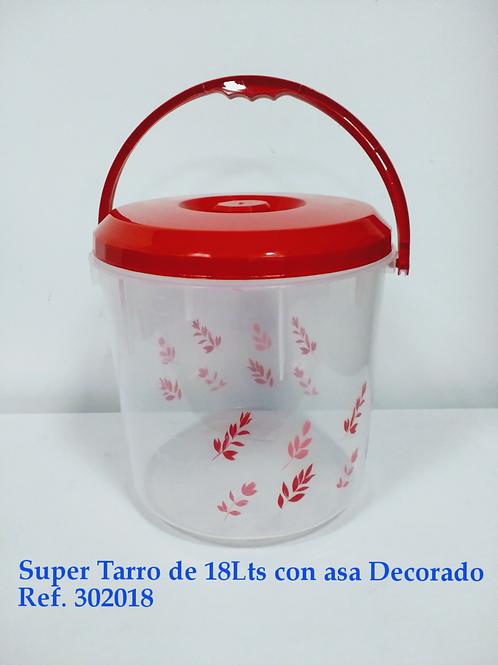 Supertarro 18lts Con Asa Decorado