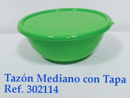 Tazon Mediano Con  Tapa