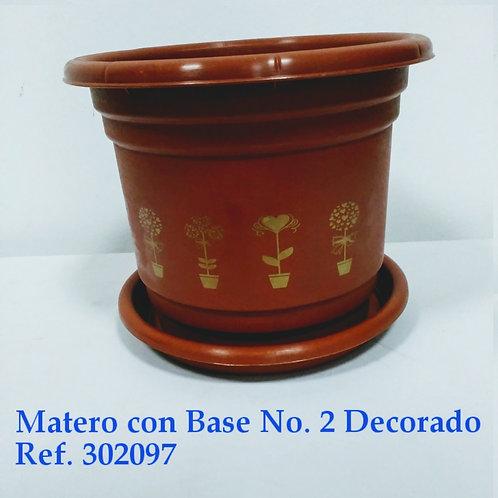 Matero Con Base # 2 Decorado