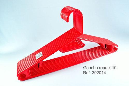Gancho Ropa X 10