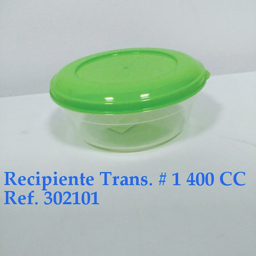 Recipiente Transparente N° 1 - 400 cc