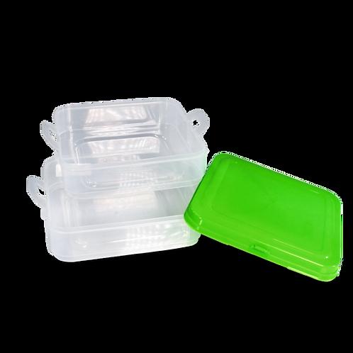 Caja Dupla Cuadrada Con Tapa - 2.8 L