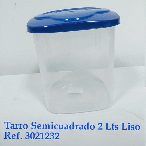 Tarro Semicuadrado 2 Lts Liso Sin Decorar