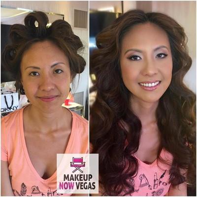 Natural makeup for bride