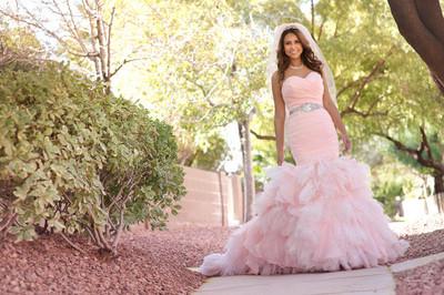 Vegas Bridal   Pink bridal dress
