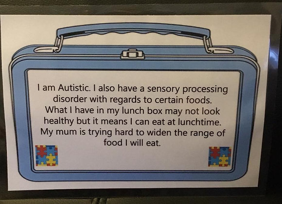 Lunchbox Autism Awareness Sign