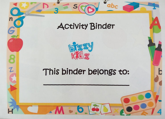 Children's Activity Binder