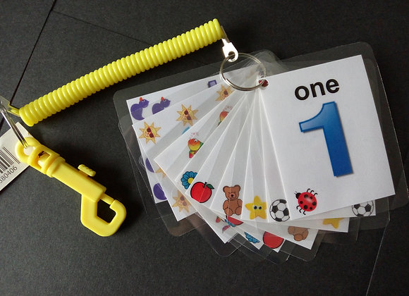1-10 flash cards numbers toddler pre-school learning development