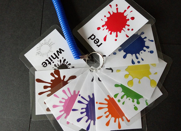 colour flash cards toddler children learning pre-school