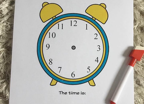 Telling the Time Teach & Test Page