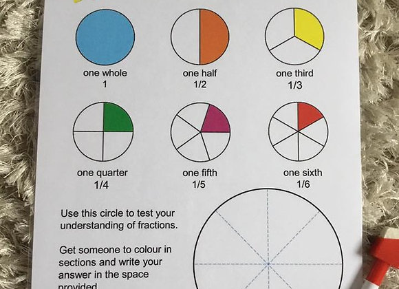 Fractions Teach & Test Page