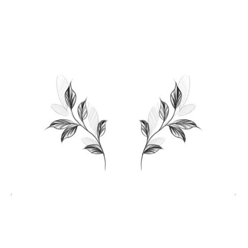 Small Leaves Temporary Tattoo
