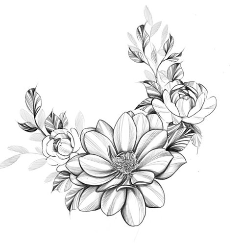 Mastectomy Floral Temporary Tattoo