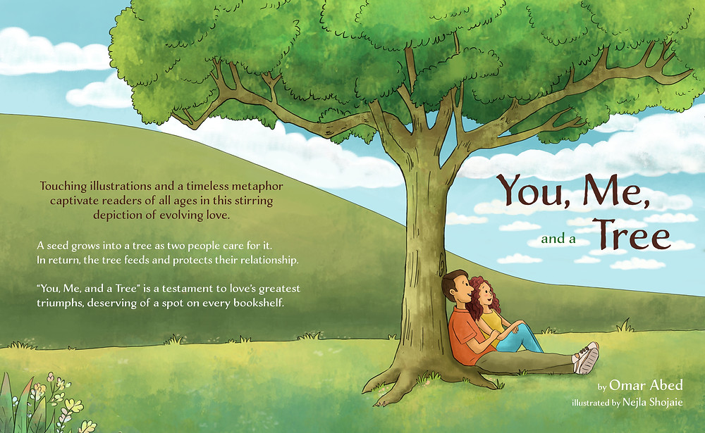 """""""You, Me, and a Tree"""" front and back cover"""