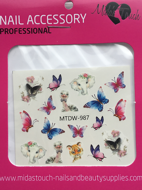 Butterfly Water Decal MTWD-987