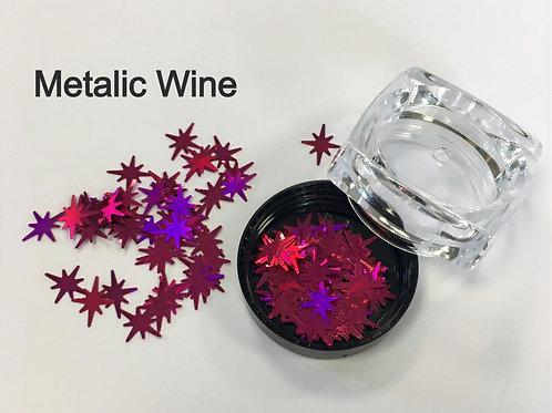 Metallic Glitter Stars