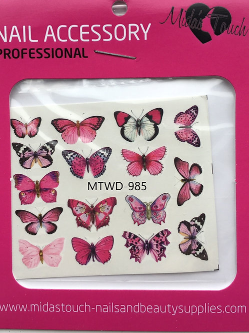Butterfly Water Decal MTWD-985