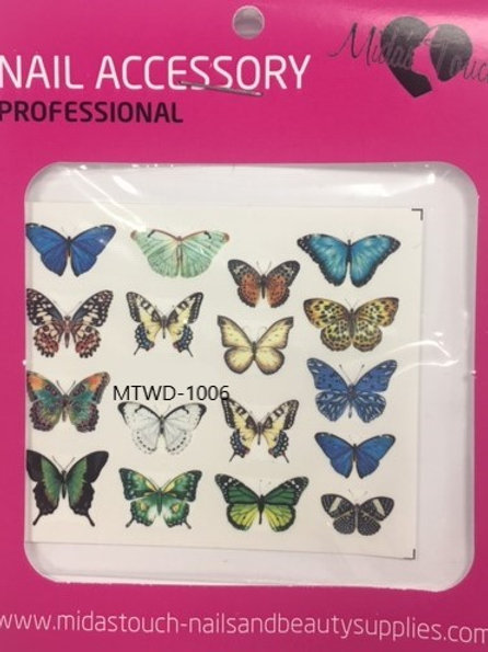 Butterfly Water Decal MTWD-1006