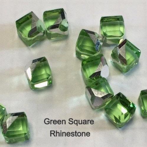 Green Crystal Cube Rhinestone