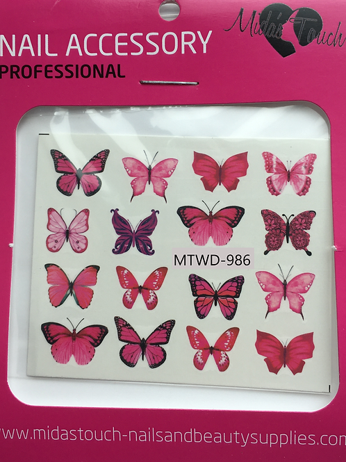 Butterfly Water Decal MTWD-986