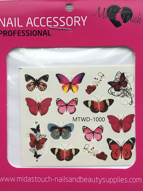 Butterfly Water Decal MTWD-1000