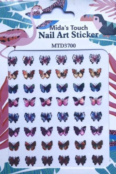Nail Art Stickers Butterflies D3700