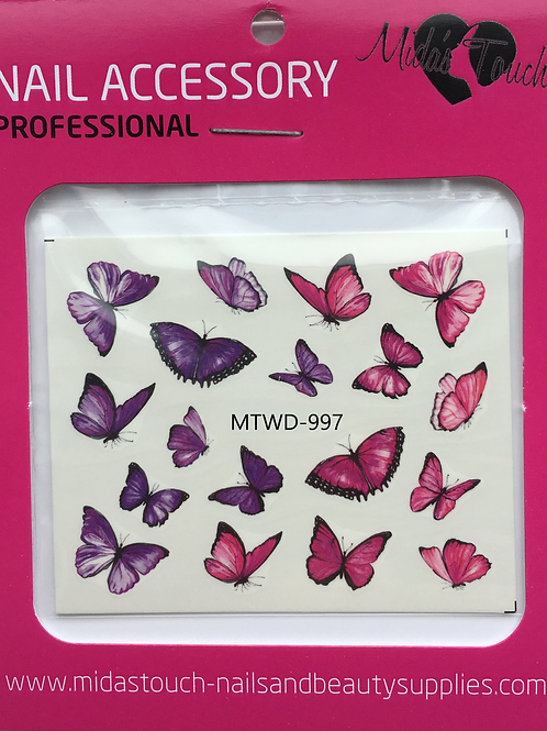 Butterfly Water Decal MTWD-997