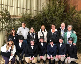 JMU riders & parents at the last IHSA show of the 2018-19 season