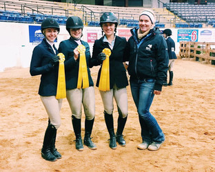The JMU team taking third overall in the Collegiate Cup