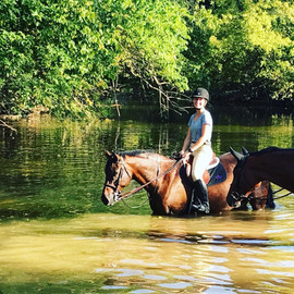 Trail ride to the river