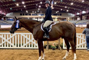 Jessi and Toby claimed a win at a SWVHJA Horse Show