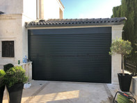 Roller door 77mm with a box charcoal colour