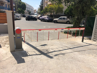 Ditec QIK7EH parking barrier with skirt