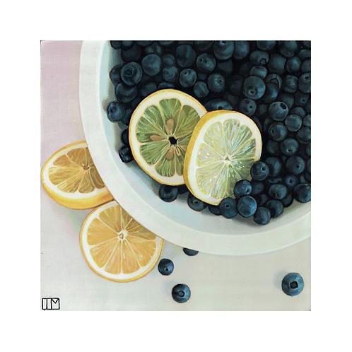 Lemon Blueberry Pie Glicee Print