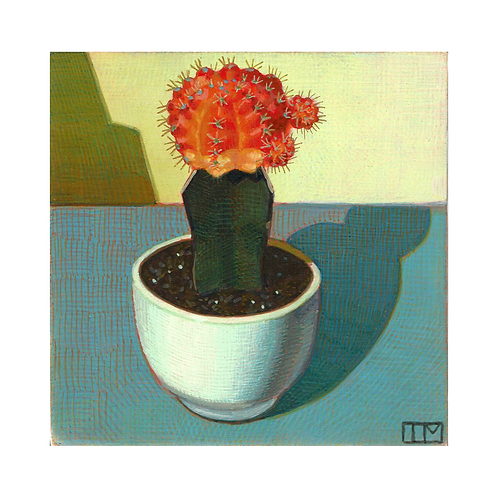 Orange Lollipop Cactus Glicee Print