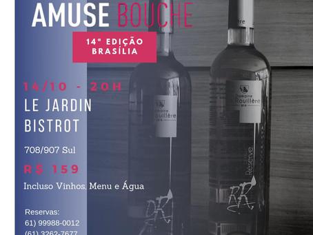 Le Jardin promove 14ª EDIÇÃO em BRASÍLIA do AMUSE BOUCHE