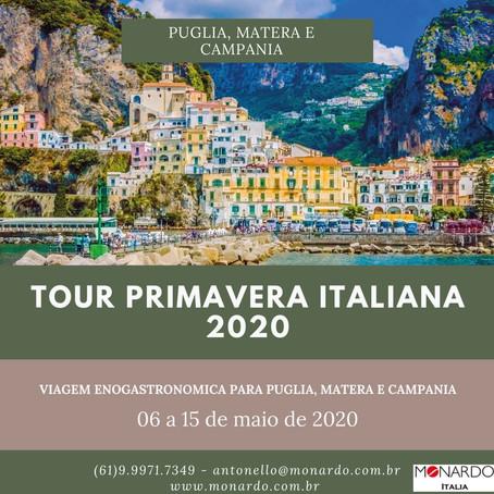Incrível Tour enogastronômico da Primavera Italiana para Puglia, Matera e Campania em Maio 2020