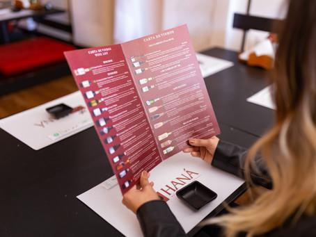 Carta de vinhos do restaurante Haná conta com 25 rótulos nacionais e internacionais