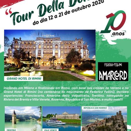 Tour eno-gastronômico - Della Dolce Vita em Outubro de 2020