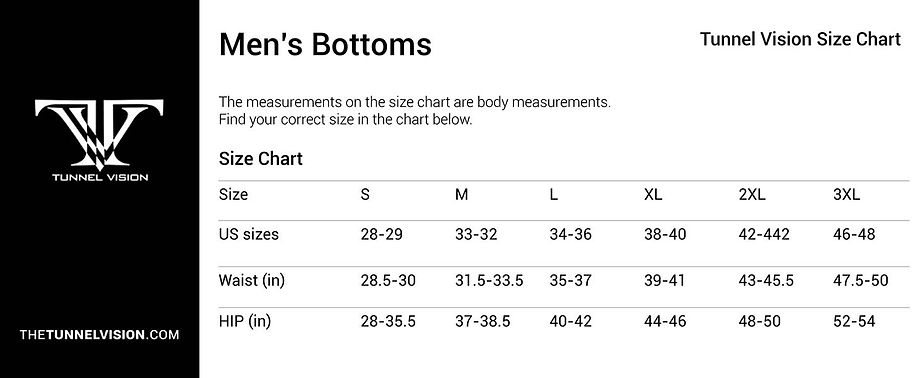 Men's Bottoms_Size Chart_tunnel vision.j