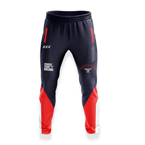 100% Dedication Jogger: Navy Blue, Red, White