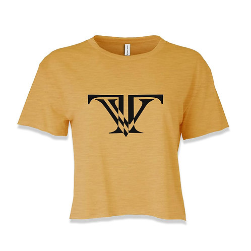 TV Brand Logo Crop-top: Yellow