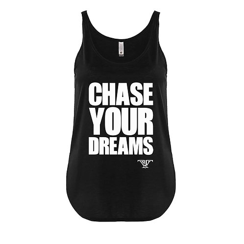 Chase Your Dreams tank top: Black