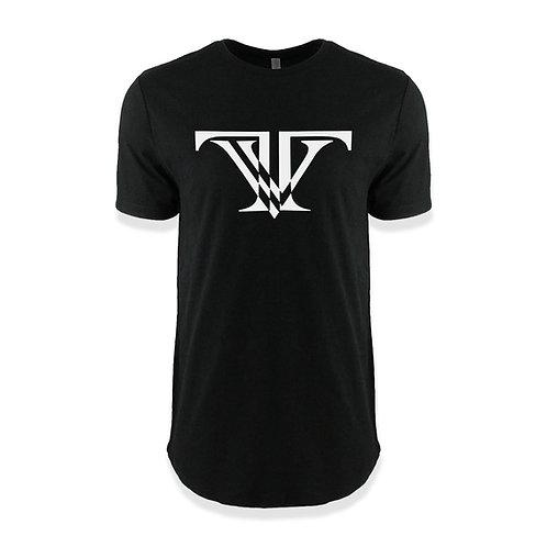 TV Brand Logo T-shirt round bottom: Black