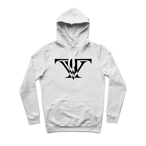 Tunnel Vision Classic Lightweight Hoodie: White